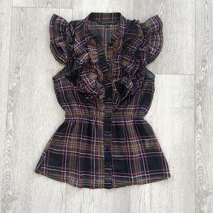Urban Behavior | Plaid tunic blouse